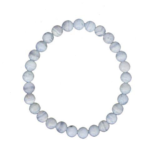 Chalcedony Bracelet - 6 mm Bead