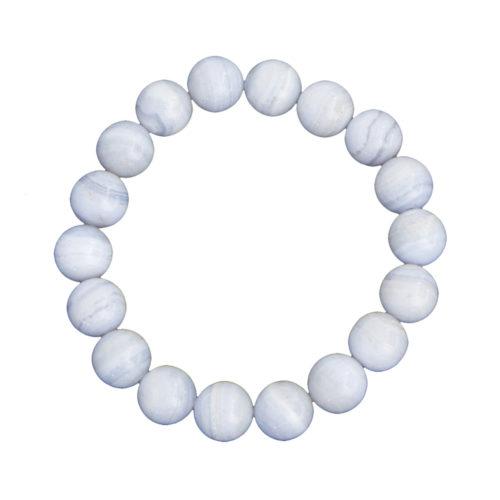 Chalcedony Bracelet - 10 mm Bead