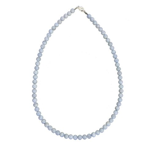 Chalcedony Necklace - 6 mm Bead