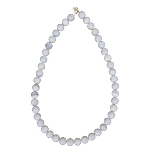 Chalcedony Necklace - 10 mm Bead