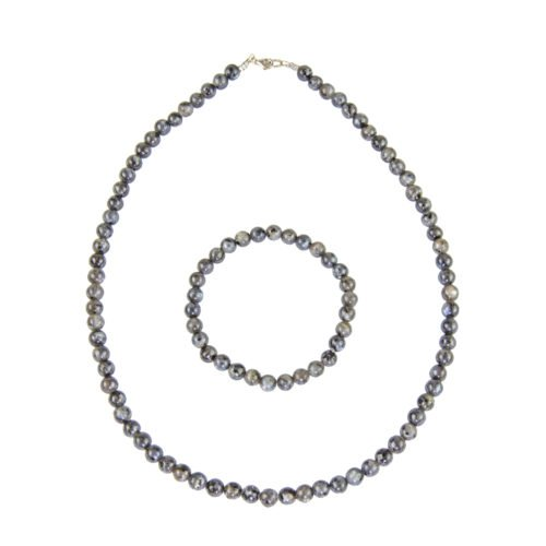 Labradorite Gift Set with Inclusions - 6 mm Bead