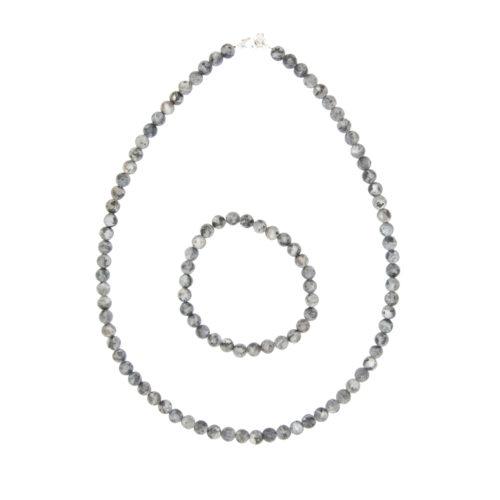 Larvikite Gift Set - 6 mm Bead