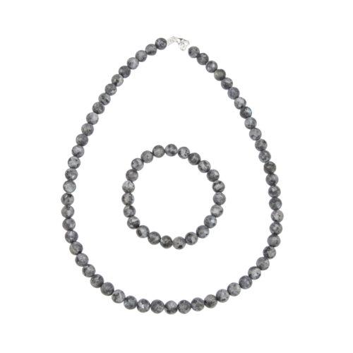 Larvikite Gift Set - 8 mm Bead
