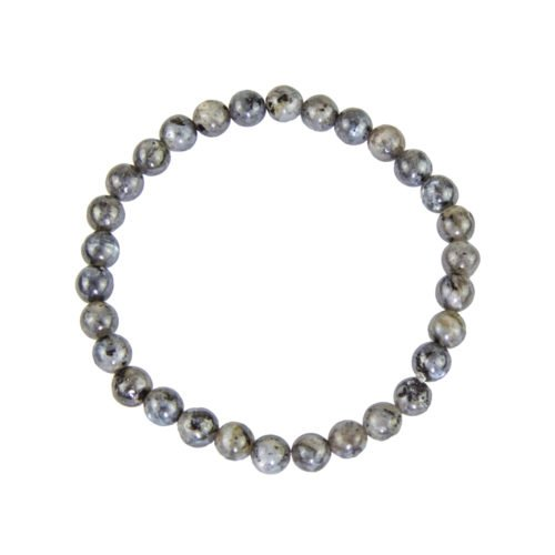 Labradorite Bracelet with Inclusions - 6 mm Bead