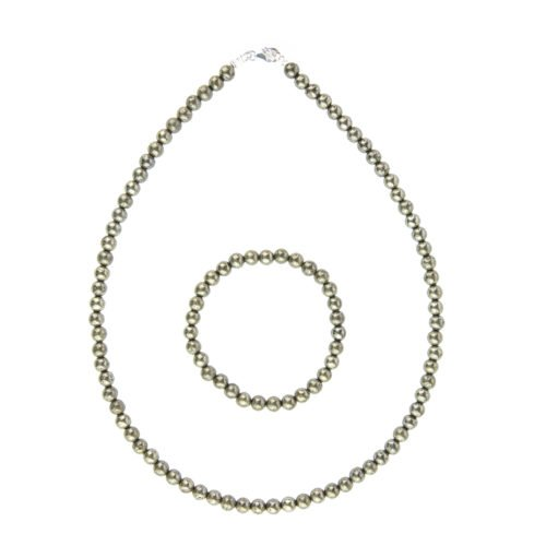 Iron Pyrite Gift Set - 6 mm Bead