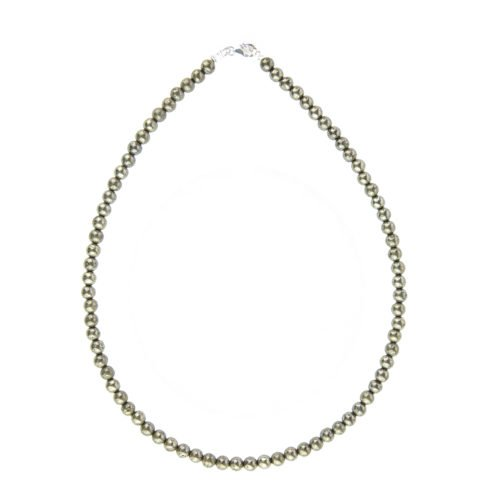 Iron Pyrite Necklace - 6 mm Bead