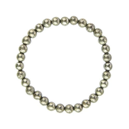 Iron Pyrite Bracelet - 6 mm Bead