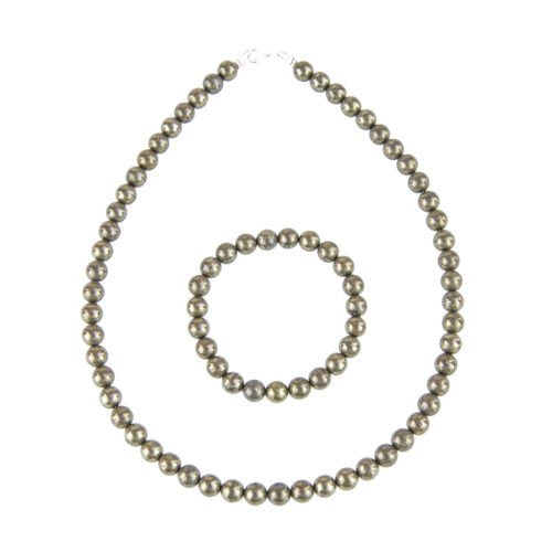 Iron Pyrite Gift Set - 8 mm Bead