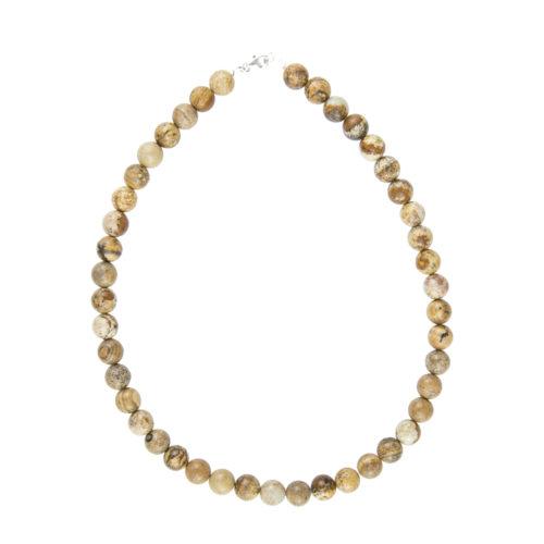 Landscape Jasper Necklace - 10 mm Bead