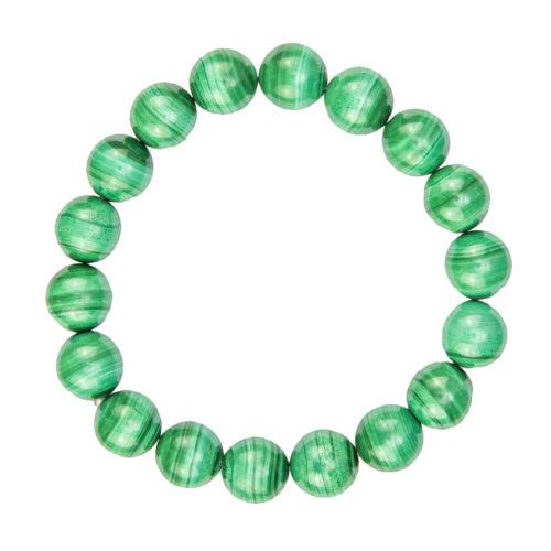 Malachite Bracelet - 10 mm Bead