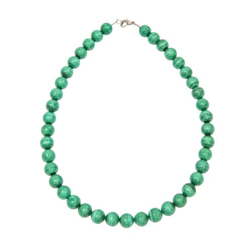 Malachite Necklace - 10 mm Bead