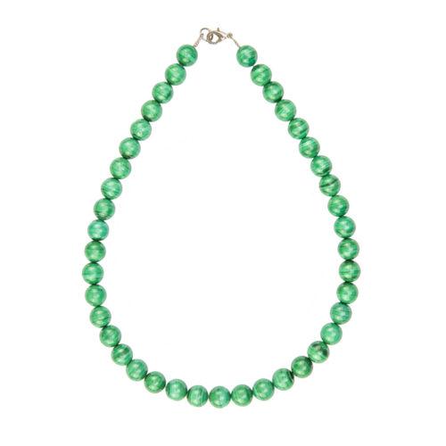 Malachite Necklace - 10 mm Bead