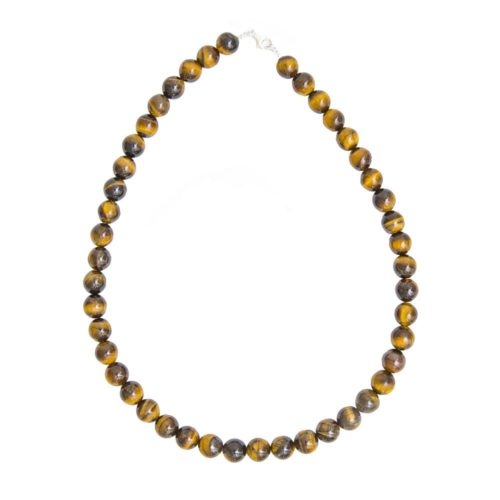Tiger's Eye Necklace - 10 mm Bead