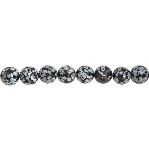 Snowflake Obsidian Line - 12 mm Bead