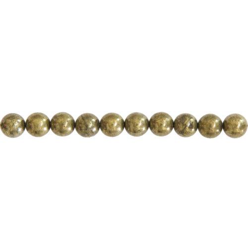 Iron Pyrite Line - 8 mm Bead