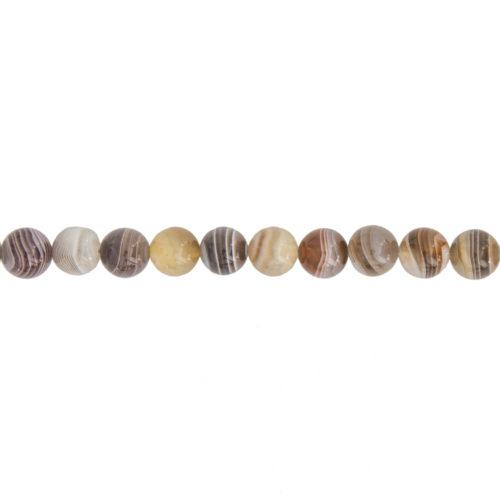 fil agate du botswana pierres boules 8mm
