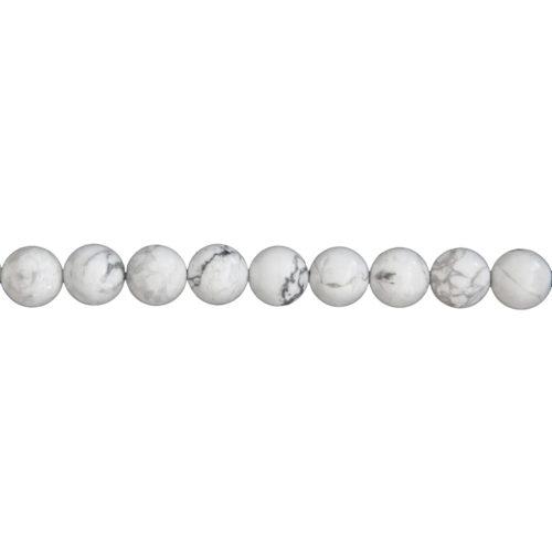 Howlite Line - 10 mm Bead