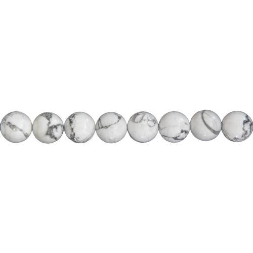 Howlite Line - 12 mm Bead