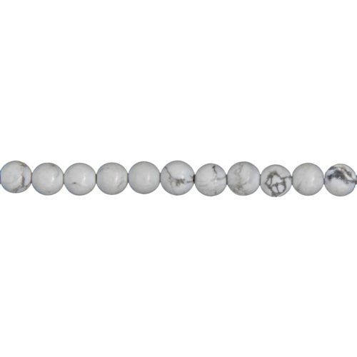 Howlite Line - 6 mm Bead