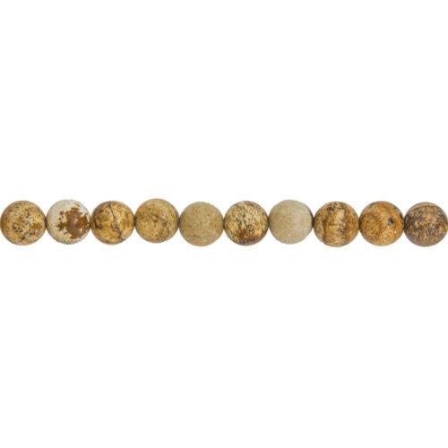 Landscape Jasper Line - 8 mm Bead