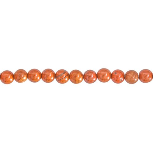 Red Jasper Line - 6 mm Bead