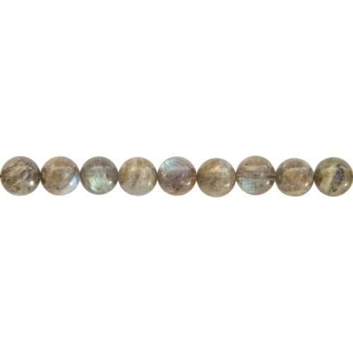 Labradorite Line - 10 mm Bead