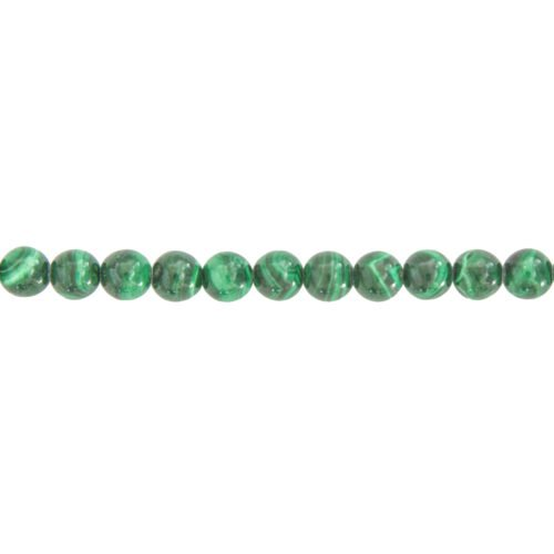 fil malachite pierres boules 6mm