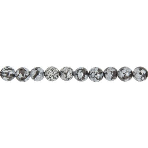 Snowflake Obsidian Line - 8 mm Bead