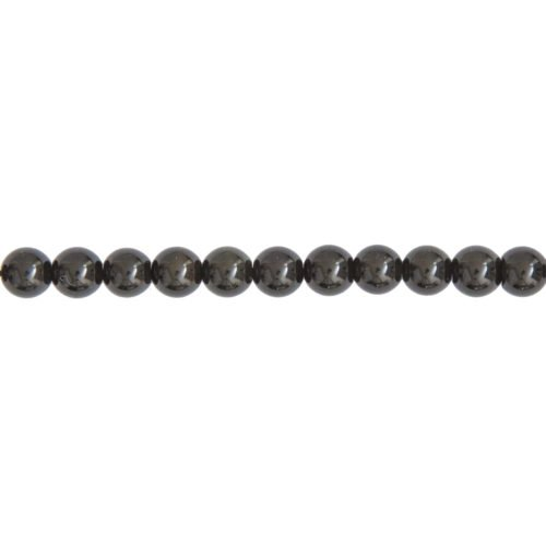 Black Obsidian Line - 6 mm Bead
