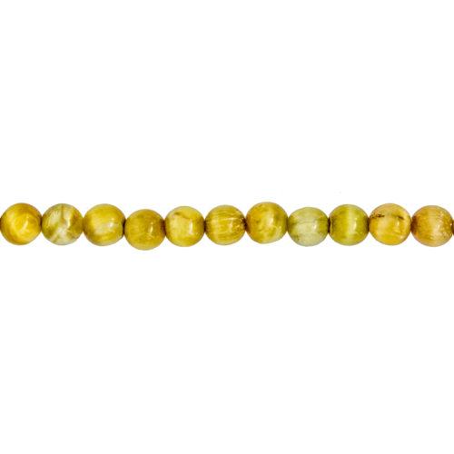 Golden Tiger's Eye Line - 6 mm Bead
