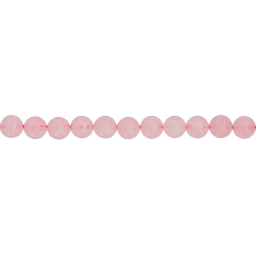 fil quartz rose pierres boules 6mm
