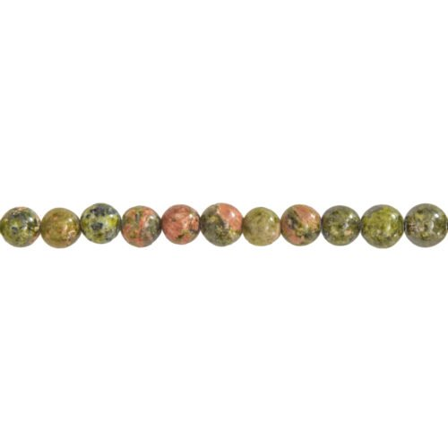 Unakite Line - 6 mm Bead