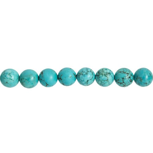 fil turquoise pierres boules 12mm