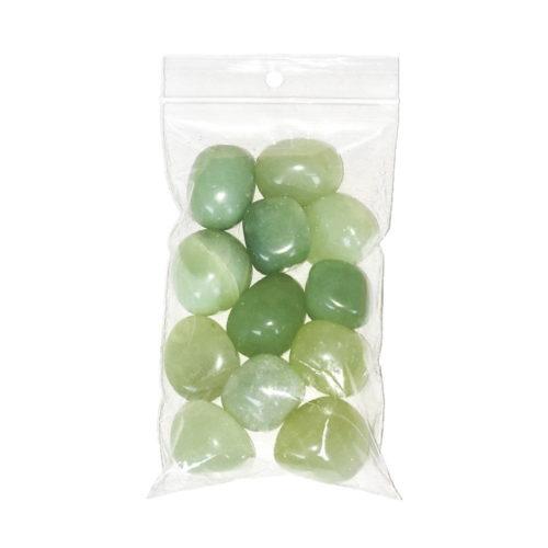 sachet pierres roulées jade vert 250grs