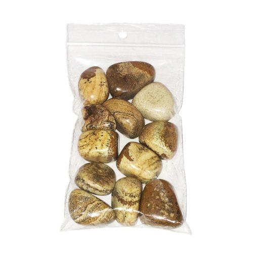 sachet pierres roulées jaspe paysage 250grs