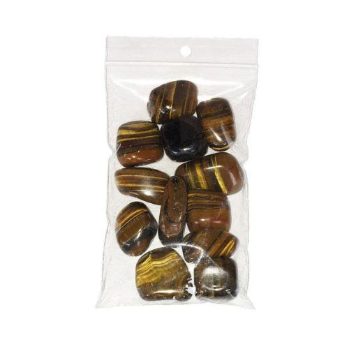 Tiger's Eye Tumbled Stone - 250 g