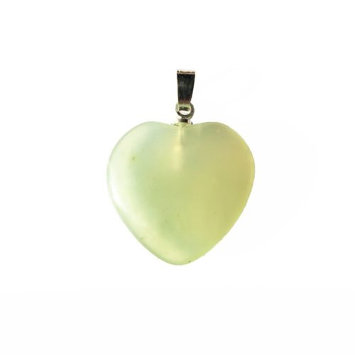 Green Jade Pendant - Small Heart