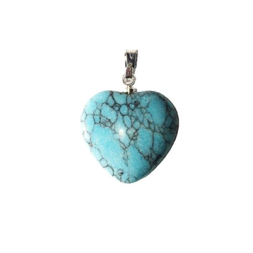 Turquoise Pendant - Small Heart