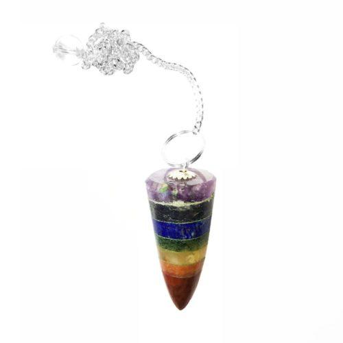 7 Chakras Pendulum - Cone