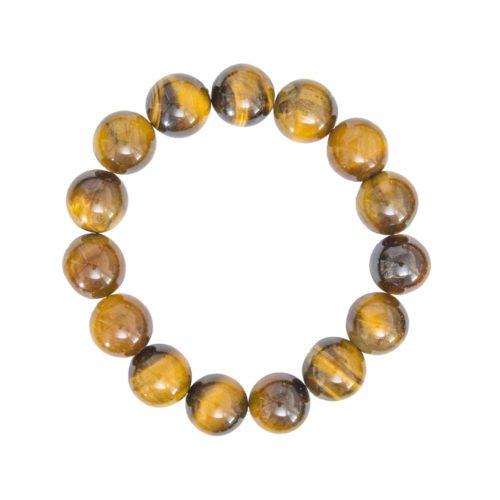 Tiger's Eye Bracelet - 12 mm Bead