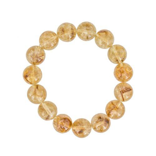 Citrine Bracelet - 12 mm Bead