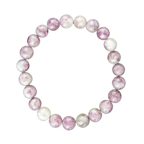 Pink Tourmaline Bracelet - 8 mm Bead