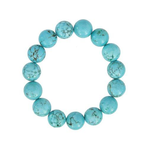 Turquoise Bracelet - 12 mm Bead