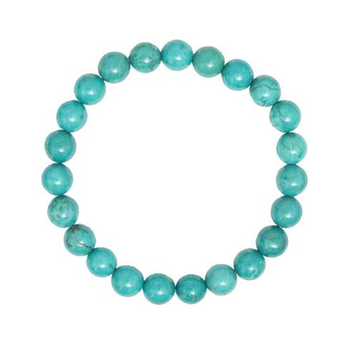 Turquoise Bracelet - 8 mm Bead