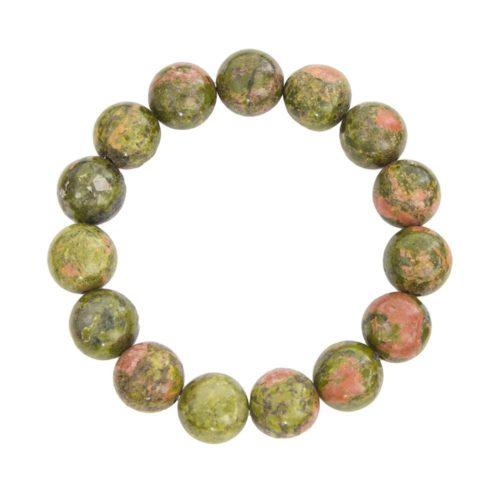 Unakite Bracelet - 12 mm Bead