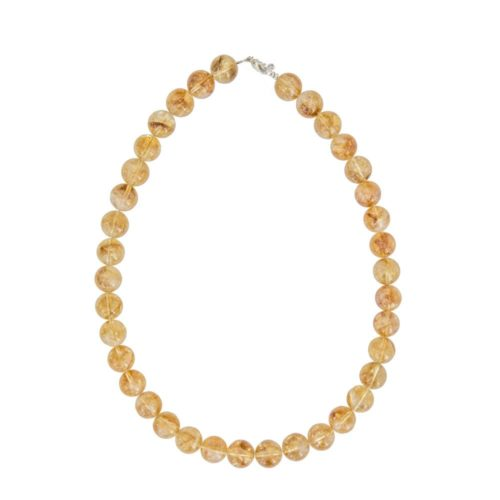 Citrine Necklace - 12 mm Bead