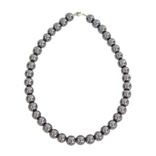 Haematite Necklace - 12 mm Bead