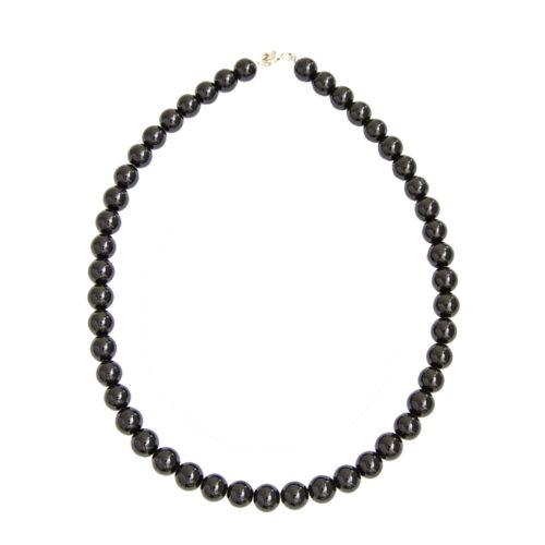 Black Tourmaline Necklace - 10 mm Bead