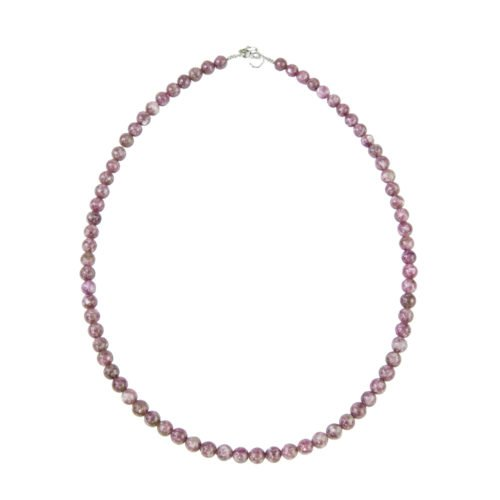 Pink Tourmaline Necklace - 6 mm Bead