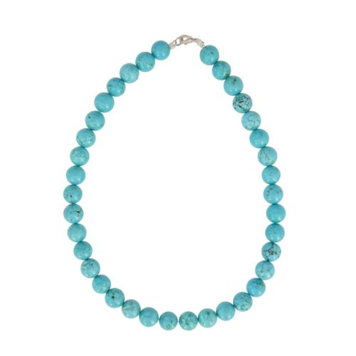 Turquoise Necklace - 12 mm Bead